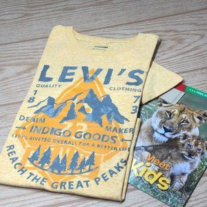 Levi's Kids T-Shirt Graphic Crewneck L 12-13 New